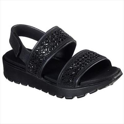 [SKECHERS]スケッチャーズ レディースサンダル FOOTSTEPS - GLAM PARTY (111065)(BBK) ブラック[取寄商品]