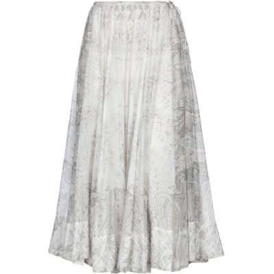エトロ ETRO ロングスカート ホワイト 46 コットン 65% / シルク 35% ロングスカート