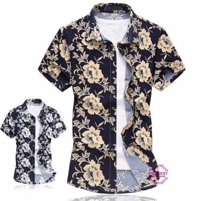 花柄シャツ メンズ ハワイ アロハシャツ カジュアルシャツ 半袖シャツ ハワイアン 和柄 おしゃれ 夏 父の日