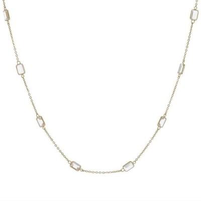 K18YG イエローゴールド ホワイトトパーズ 12.92ct ネックレス ロングネックレス 6FTU4373450-KM 天然石