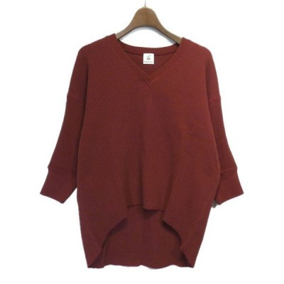 【SALE】6(ROKU)BEAUTY & YOUT 「THERMAL V NECK 6SLEEVE 2」Vネックサーマルカットソー サイズ:Free (栄店)