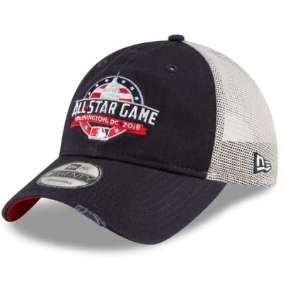 ユニセックス スポーツリーグ メジャーリーグ New Era MLB 2018 All-Star Game Stated Back Trucker 9TWENTY Adjustable Hat - Navy - OSF