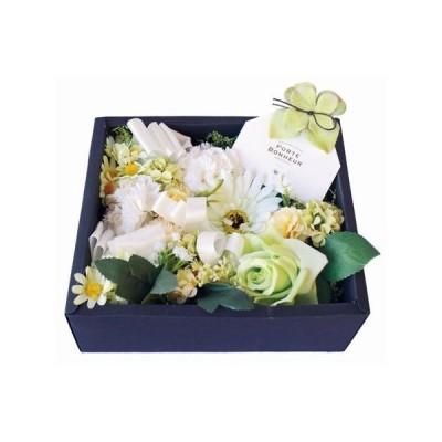 彩か Flower Box M  white 香りのサシェ付き CXO-FB05 造花ギフト フラワーアレンジ