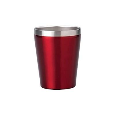 小倉陶器 真空断熱 ステンレスタンブラー 360ml 保温 保冷 二重構造 コンビニコーヒーカップ マグ (レッド) 約φ8.5×h10.7cm