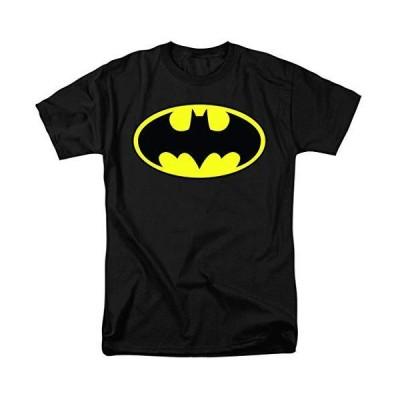 バットマンクラシックロゴTシャツ&ステッカー US サイズ: Large カラー: ブラック