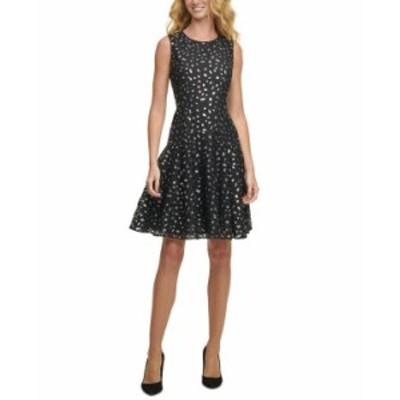 トミー ヒルフィガー レディース ワンピース トップス Metallic Leopard Lace Dress Black/Silver