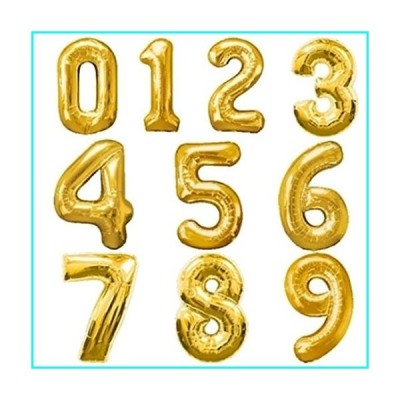 40 inch Foil Balloon Large Helium Number Balloons Wedding Decoration Birthday Party Souvenirs Favors Golden Silver Pink Blue (Number 6, Gold)