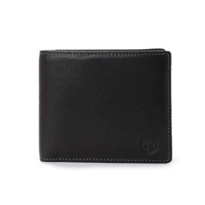 ロンフォード RONFORD 二つ折財布 (小銭入れなし) (ブラック)