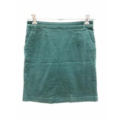 【中古】ローリーズファーム LOWRYS FARM スカート 台形 ミニ L 緑 グリーン /YK レディース
