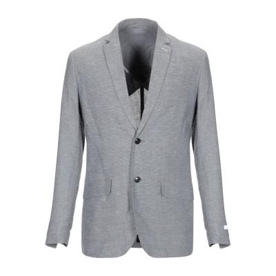 JACK & JONES PREMIUM テーラードジャケット グレー 50 レーヨン 70% / 麻 30% テーラードジャケット