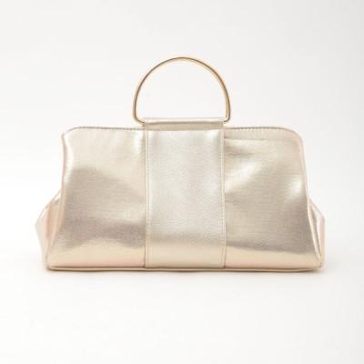 COOCO クーコ 20131-13013 メタルハンドルアオポケット付き2WAYバッグ