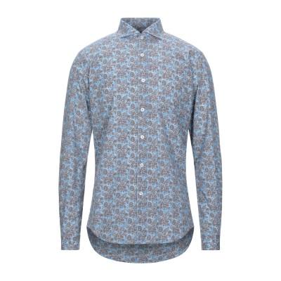 LIU •JO MAN シャツ アジュールブルー 40 コットン 100% シャツ