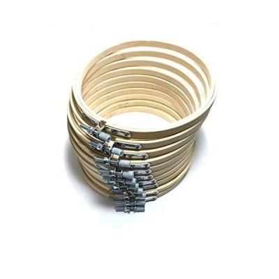 [Red Lightning] 竹製 刺繍枠 ネジ式 丸形 直径15cm 10個セット 生地固定 手芸 クロスステッチ キルティング用 RL148