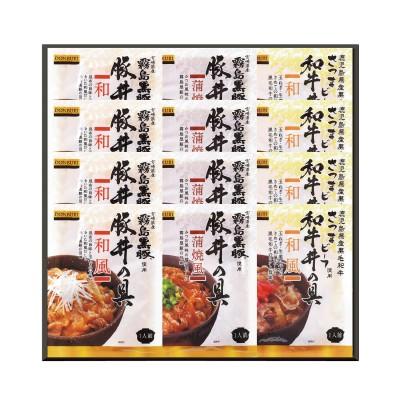 【お中元ギフト】霧島黒豚・さつまビーフ 黒豚丼・和牛ミニ丼の具三昧