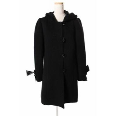 【中古】シンシアローリー CYNTHIA ROWLEY アルパカ混 袖リボン コート /au0422 レディース