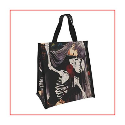 Black Butler Large Tote Bag Grocery Bag Foldable Shopping Tote Eco-Friendly Picnic Cooler Aluminum Foil Cooler Lunch Bag With Insulated Interior Linin