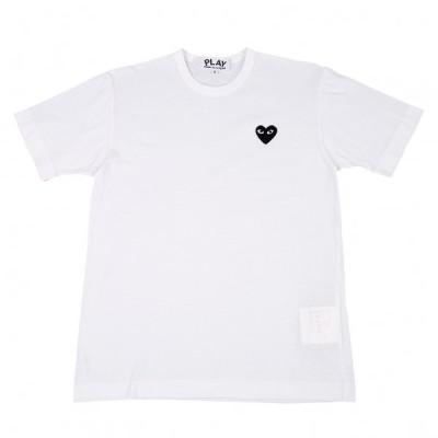 プレイ コムデギャルソンPLAY COMME des GARCONS 胸ハートワッペンTシャツ 白S 【メンズ】