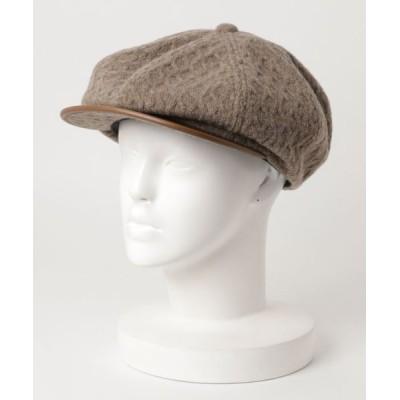 general design store / MANIERA LEATHERxKNIT-TEXTILE H-CAS MEN 帽子 > キャスケット