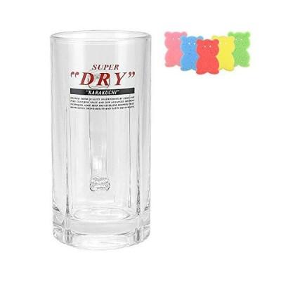 [正規品] Asahi アサヒ スーパードライ 435ml ビール ジョッキ グラス スポンジ付き(アサヒB、1個) 信州グラス