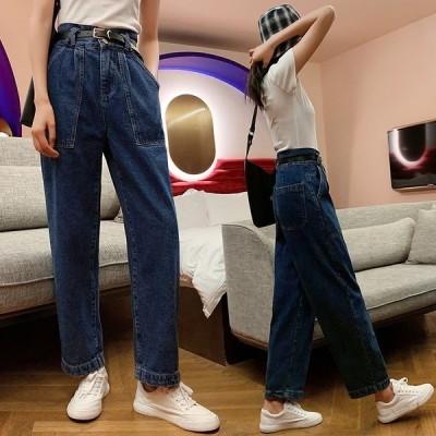 デニム パンツ 韓国 オルチャン ストリート 原宿系 アメカジ ゆったり きれいめ ワイド ダンス 衣装  HIPHOP K-POP ジーンズ ボトムス ジーパン  J-1300