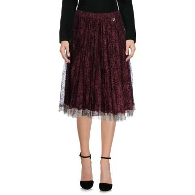 ツインセット シモーナ バルビエリ TWINSET ひざ丈スカート ボルドー S 53% ナイロン 47% 金属繊維 ひざ丈スカート