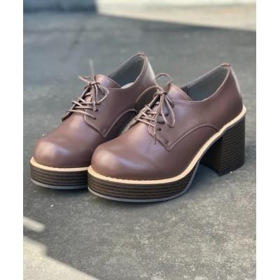 Shoes in Closet -シュークロ- / 厚底チャンキーヒール  レースアップマニッシュシューズ 1851 WOMEN シューズ > ドレスシューズ