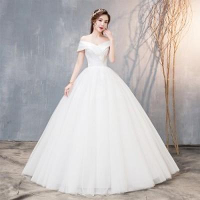 激安  花嫁ウェディングドレス 結婚式 二次会 袖あり ロング フォーマル パーティードレス ホワイト白 撮影 大きいサイズ