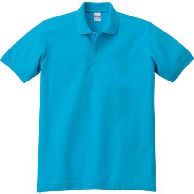 T/Cポロシャツ ポケット無し ホワイト3L 00141C ターコイズ