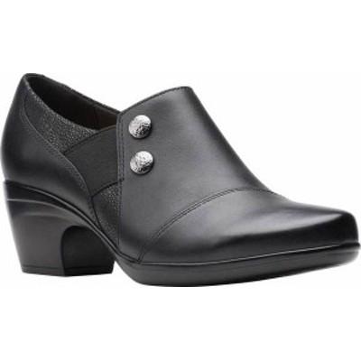 クラークス レディース ブーツ・レインブーツ シューズ Women's Clarks Emily Beales Shootie Black Leather/Synthetic