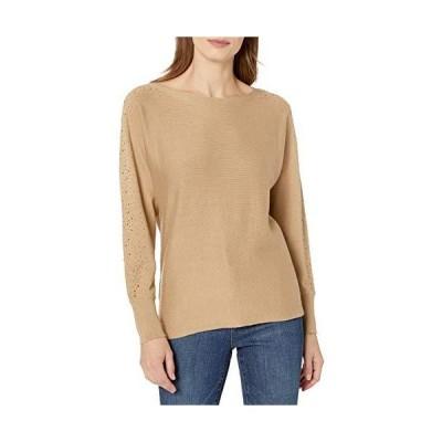 Vince Camuto Women's Embellished Dolman SLV Sweater, Latte, Medium並行輸入品 送料無