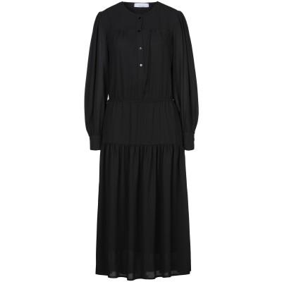 カオス KAOS 7分丈ワンピース・ドレス ブラック 42 ポリエステル 100% 7分丈ワンピース・ドレス