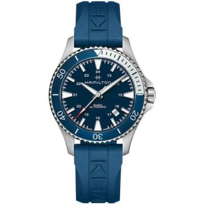 腕時計 ハミルトン メンズ   Hamilton H82345341 40mm Blue Rubber Band Khaki Navy Scuba Automatic Mens Watch