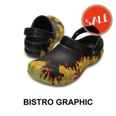 ●【クロックス crocs w メンズ レディース】bistro graphic clog/ビストロ グラフィック クロッグ/ブラック