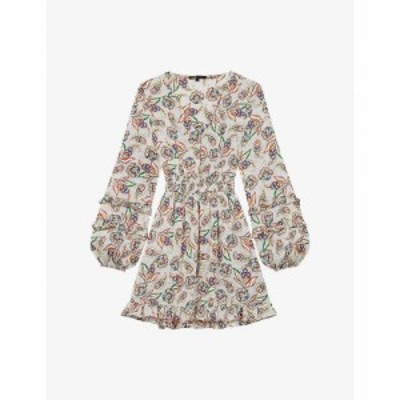 マージュ MAJE レディース ワンピース ティアードドレス ワンピース・ドレス Risley tiered bell-sleeve paisley-print satin dress PAIS