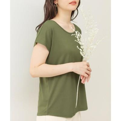 ソーシャルガール Social GIRL 美ラインシンプルTシャツ (puカーキ)