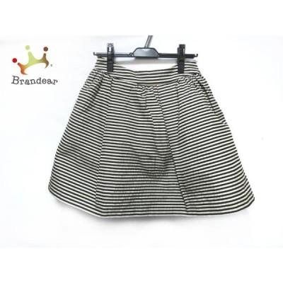 ミューズデドゥーズィエムクラス スカート レディース 美品 黒×白 ボーダー       スペシャル特価 20200412
