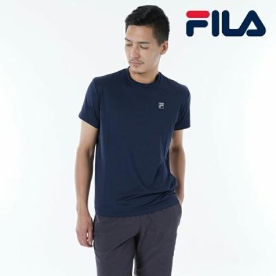 フィラ FILA 日本正規品 メンズ トップス Tシャツ 半袖 スポーツ フィットネス ランニング アウトドア 紺 ネイビー シンプル スタンダード