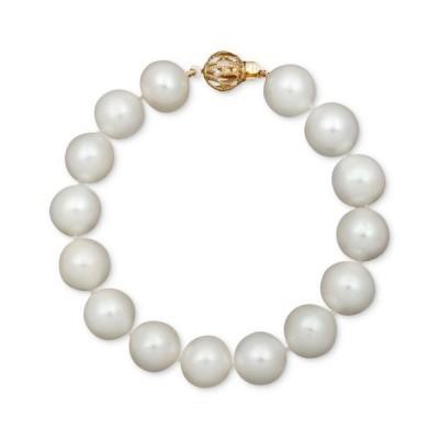 """ベル ドゥ メール Belle de Mer ユニセックス ブレスレット Pearl Bracelet, 7-1/2"""" 14k Gold A+ Cultured Freshwater Pearl Strand (11-13mm) No Color"""
