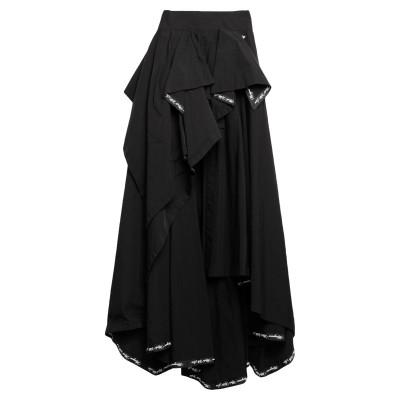 MANGANO ひざ丈スカート ブラック 38 ポリエステル 54% / コットン 46% ひざ丈スカート
