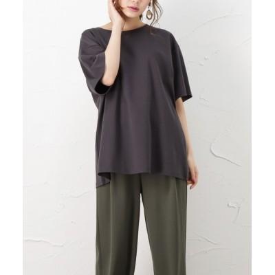 tシャツ Tシャツ ゆったりシルエット 5分袖Tシャツ ハンサムTシャツ