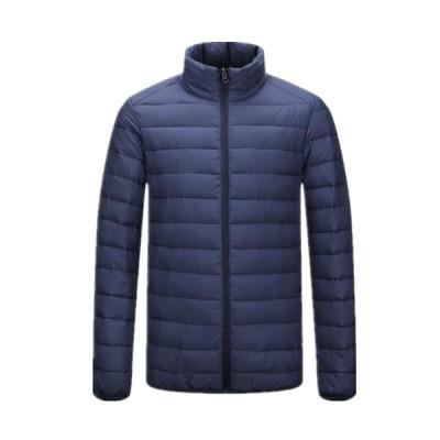 ダウンジャケット メンズ 中綿コート アウター ショット 襟たち 軽量 防風 防寒 ライトダウン 収納袋付き 撥水