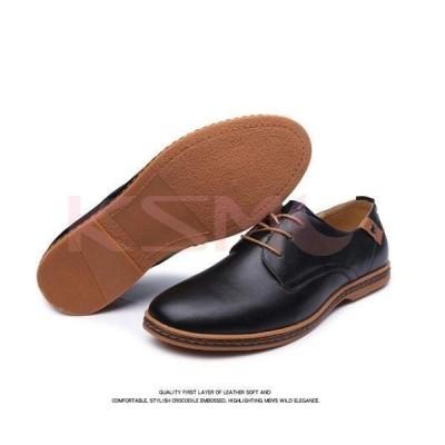 ビジネスシューズメンズPU革靴ストレートチップレースアップシューズカジュアルシューズデッキシューズドライビング紳士靴2020秋冬