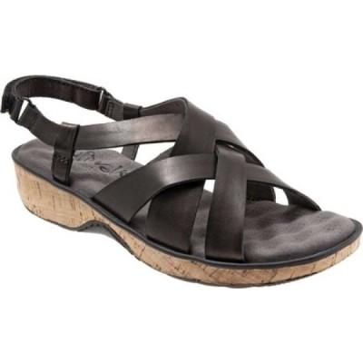 ソフトウォーク SoftWalk レディース サンダル・ミュール シューズ・靴 Bonaire Slingback Sandal Black Leather