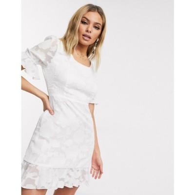ライオネス Lioness レディース ワンピース ベビードール ミニ丈 ワンピース・ドレス Babydoll Mini Dress In White ホワイト