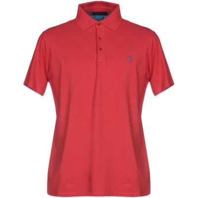 トラサルディ ジーンズ TRUSSARDI JEANS ポロシャツ レッド XS コットン 100% ポロシャツ