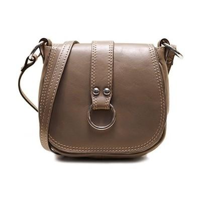 Floto Venezia Women's Saddle Bag Crossbody Shoulder Bag Handbag (Grey)【並行輸入品】