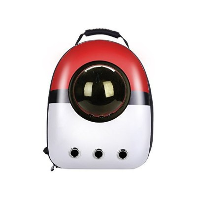Qunlei Pet Carrier Travel Backpack Bubble Backpack Pet Carriers for Cats Dogs Pets Space Capsule Breathable(red&White) 並行輸入品