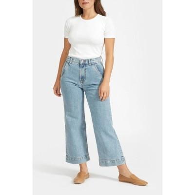 エバーレーン レディース デニムパンツ ボトムス The Wide Leg Jeans LIGHT INDIGO