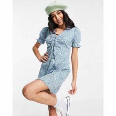インフルエンス Influence レディース ワンピース ミニ丈 ワンピース・ドレス Ditsy Floral Mini Dress ブルーマルチ