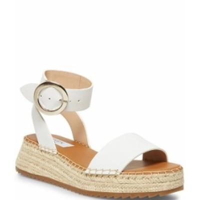 スティーブ マデン レディース サンダル シューズ Steven New York Tiny Banded Flatform Sandals White